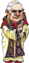 Cartoon: Pope Benedictus XVI (small) by jean gouders cartoons tagged pope,pabst,ratinger,benedict,xvi,jean,gouders