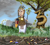 Cartoon: The holy oak under siege (small) by jean gouders cartoons tagged euro,crisis,merkel