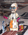 Cartoon: Vatican spring cleaning? (small) by jean gouders cartoons tagged pope,francis,scandals