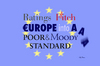 Cartoon: Rated Europe (small) by Alf Miron tagged europe,crisis,rating,agency,moodys,standard,poors,fitch,euro,dept,aaa