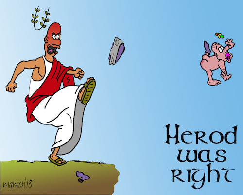 Cartoon: A great History lesson (medium) by mmon tagged herod,children,school,teachers
