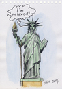 Cartoon: Liberty (small) by Otilia Bors tagged otilia,bors