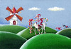 Cartoon: Christmas Quijote (small) by lloyy tagged christmas,quijote
