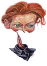 Cartoon: Other version of Tilda Swinton (small) by lloyy tagged actress,oscar,hollywood,famous,people,caricature