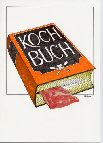 Cartoon: kochbuch (medium) by ruditoons tagged buch,
