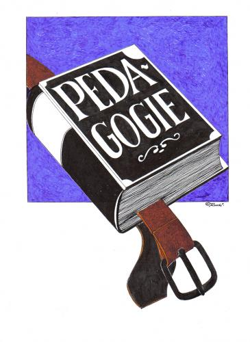 Cartoon: paedagogik (medium) by ruditoons tagged lehrbuch,
