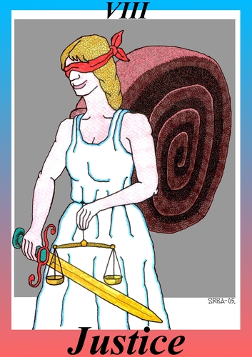 Cartoon: Justice (medium) by srba tagged tarot,cards,justice,snail