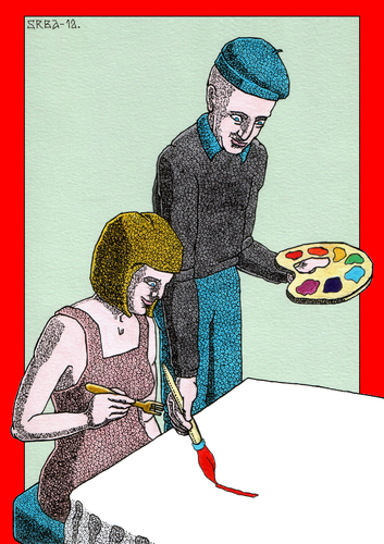 Cartoon: Soul Food (medium) by srba tagged women,8thmarch,food,paintings,impresions