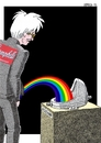Cartoon: Andrew Warhola Jr (small) by srba tagged warhol,duchamp,the,oxidation,paintings,rainbow