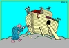 Cartoon: Principal Error (small) by srba tagged noe,ark,animals,worms,bible