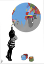 Cartoon: Pintando el mundo (small) by ANTRUEJO tagged pintando,painting,mundo,world,antruejo,ger,emis