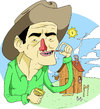 Cartoon: cowboy (small) by MonitoMan tagged cowboy