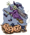 Cartoon: Happy Halloween (small) by thopman tagged halloween scary pumpkin witch ghost house haunted