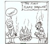 Cartoon: first flame thrower (small) by cartoonme1 tagged caveman,dinosaur,funny,weird,fire,odd,stupid