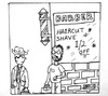 Cartoon: half off shave (small) by cartoonme1 tagged shaved,barber,funny,odd,weird,gag,haircut,humor