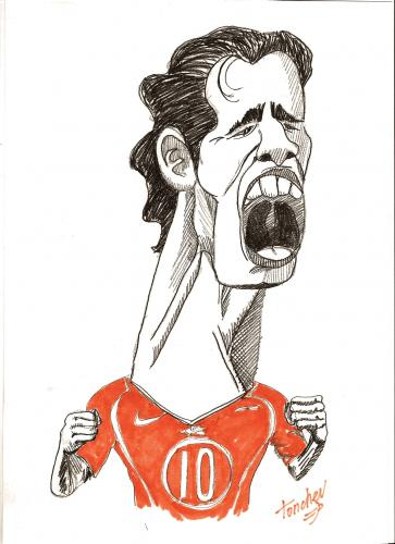 Cartoon: Ruud van Nistelrooy (medium) by Bravemaina tagged ruud,van,nistelrooy,soccer,football,euro,2008