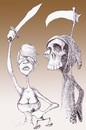 Cartoon: death and justice (small) by Hugo_Nemet tagged justice