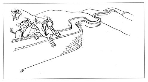 Cartoon: Chinese Wall (medium) by Mihail tagged chinese,wall,olympics,