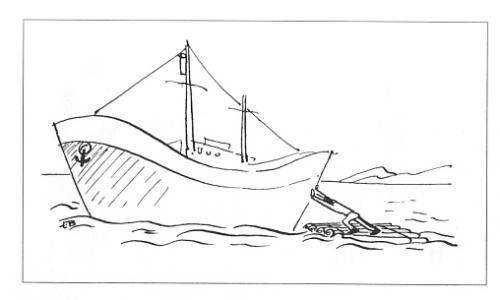 Cartoon: For Scrap (medium) by Mihail tagged ship,sea,scrap,effort,servise,
