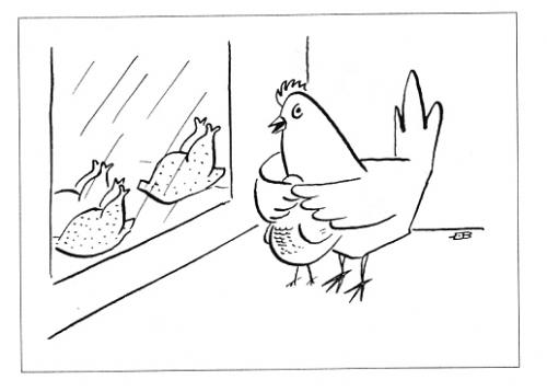 Cartoon: Parental Control (medium) by Mihail tagged chicken,parents,children,window,shop,naked,