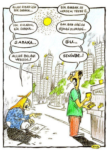 Cartoon: sadaka (medium) by aceratur tagged sadaka