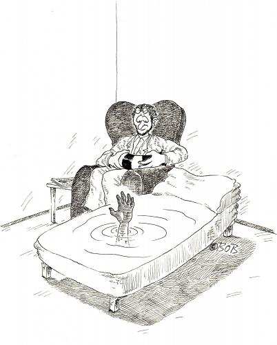 Cartoon: Baden gehen (medium) by Christian BOB Born tagged psycho,couch,therapie