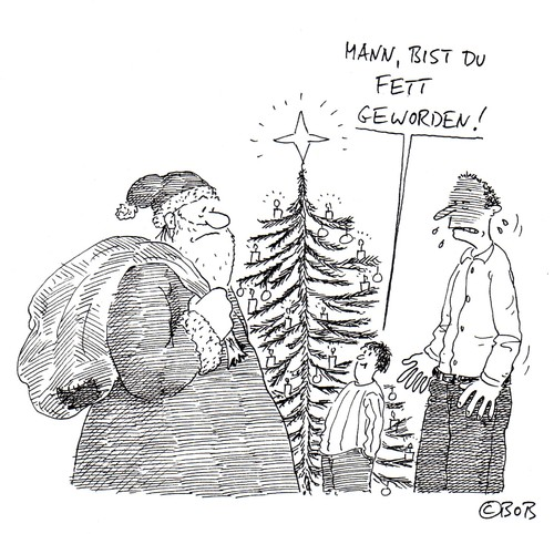 Cartoon: Ho Ho Hoppla (medium) by Christian BOB Born tagged plätzchen,nikoläuse,wänste,ho