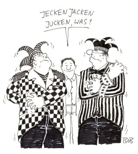 Cartoon: So isses. (medium) by Christian BOB Born tagged karneval,fasching,fasnacht,juckreiz,narren