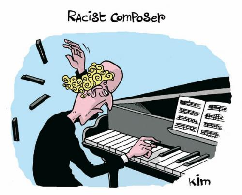 Cartoon: Racist Composer (medium) by Kim Duchateau tagged racism,composer,music,