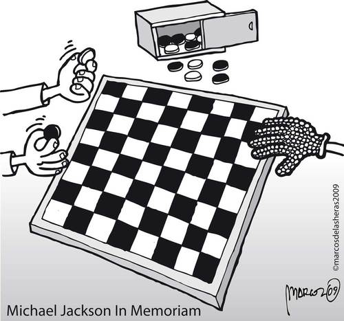 Cartoon: Black or White? (medium) by marcosymolduras tagged jackson,black,white