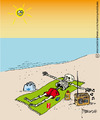 Cartoon: Sunless protection (small) by marcosymolduras tagged sun,beach,protection