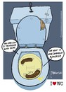 Cartoon: Talks shit II (small) by marcosymolduras tagged bowl,sesame,shit,talks,wc