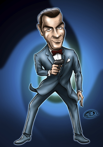 Cartoon: mr.bond2 (medium) by elle62 tagged bond,james,connery,sean