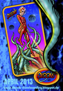 Cartoon: Kill the Beast Board-Graphics (small) by elle62 tagged spacegirl,octupus,skateboards,pin,up