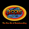 Cartoon: SKOONS-Skateboarding (small) by elle62 tagged skateboard,sport,company,logo