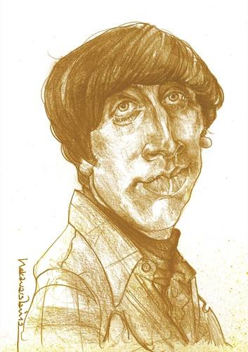 Cartoon: Howard Wolowitz (medium) by hakanarslan tagged howardwolowitz,thebigbangtheory,simonhelberg,hakanarslan