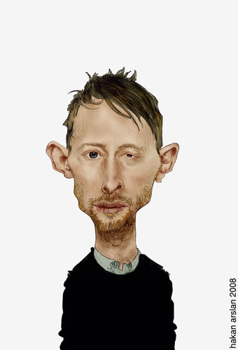 Cartoon: thom yorke (medium) by hakanarslan tagged music