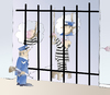 Cartoon: JAILBIRD (small) by LAINO tagged jail,prisoner,prison