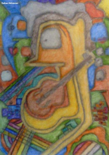 Cartoon: Musical Man (medium) by tildasahar tagged musical,man