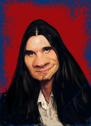 Cartoon: Bo Bice (medium) by salnavarro tagged caricature,digital