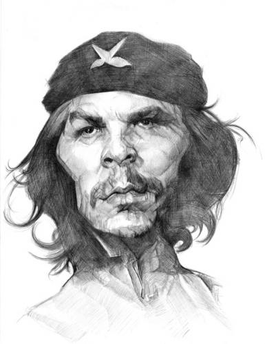 Cartoon: Ernesto che Guevara (medium) by salnavarro tagged caricature,pencil