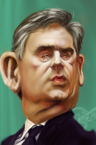 Cartoon: Gordon Brown (medium) by salnavarro tagged caricature,digital,international,politics