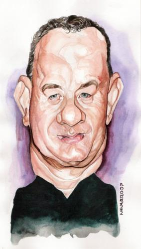 Cartoon: tom hanks (medium) by salnavarro tagged caricature,pencil