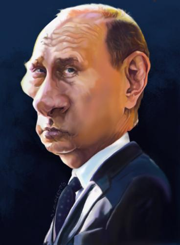 Cartoon: vladimir putin (medium) by salnavarro tagged caricature,digital,politics