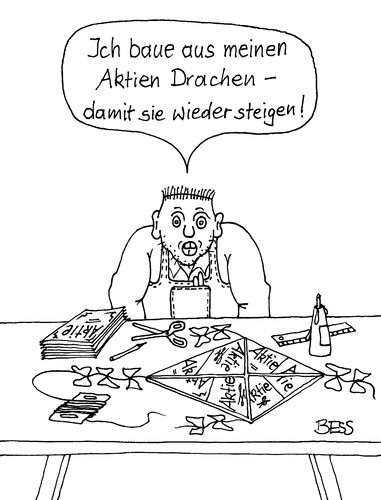 Cartoon: Der Praktiker (medium) by besscartoon tagged aktien,banken,bankenkrise,geld,drachen,finanzen,börse,dax,euro,kurse,bess,besscartoon,devisen
