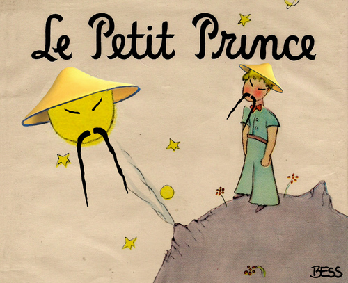 Cartoon: Le Petit Prince (medium) by besscartoon tagged china,mondlandung,raumfahrt,jadehase,technik,weltraum,le,petit,prince,antoine,de,saint,exupery,bess,besscartoon