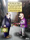 Cartoon: Der Fluch des Geldes (small) by besscartoon tagged geld,finanzen,bargeld,abschaffung,umschulung,amt,wirtschaft,bettler,kenneth,rogoff,bess,besscartoon