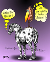 Cartoon: Feinschmecker (small) by besscartoon tagged pferd,pferde,rabe,tiere,salami,essen,bess,besscartoon