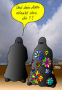 Cartoon: Flower power (small) by besscartoon tagged islam,burka,flower,power,religion,bess,besscartoon