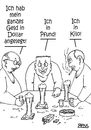Cartoon: Geldanlage (small) by besscartoon tagged dollar,pfund,kilo,geld,anlage,geldanlage,finanzen,bank,bess,besscartoon